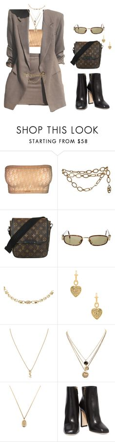 """""""#252"""" by jaehunny ❤ liked on Polyvore featuring Christian Dior, Chanel, Louis Vuitton, Versace, Vanessa Mooney, Yves Saint Laurent, LowLuv and Dolce&Gabbana"""