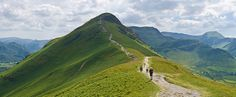 A view of the northern ascent of Catbells (facing south) in the Lake District near Keswick, Cumbria