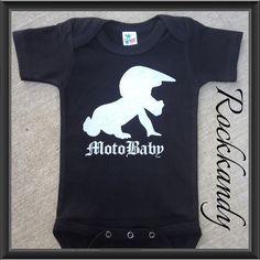 Moto Baby Black Onesie/Shirt by RockkandyKids on Etsy, $13.00