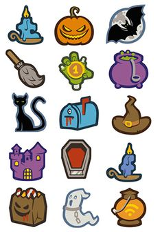 This Halloween icon set offers 22 icons in 5 different sizes, and it includes icons for ecommerce sites, social media, and more.