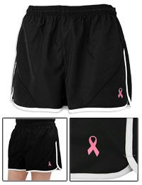 Pink Ribbon Running Shorts at The Breast Cancer Site