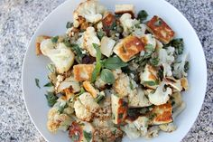 cauliflower halloumi salad