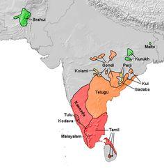 Extent of Dravidian Languages .