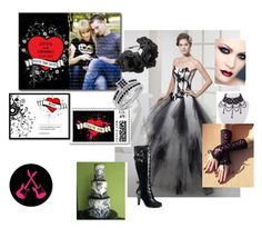 """Rock Goth Wedding Collection by LeahG"" by pinkypkawaiigirl ❤ liked on Polyvore featuring CABARET"