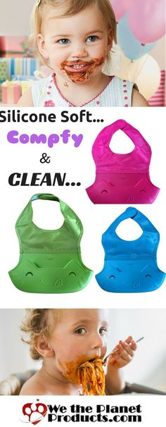 Try the #1 Baby Bib and save the mess with the innovated silicone bib with its own built in bowl to catch food droppings BEFORE they get on their clothes.