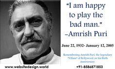 Amrish Puri, Happy Tuesday, I Am Happy, Good Morning, Birth, Anniversary, Guys, Im Happy, Buen Dia