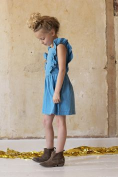 Cute Ruffle Sleeve Dress