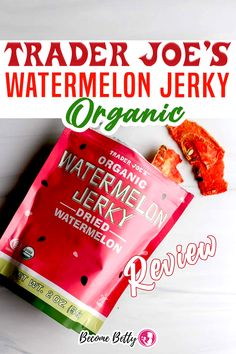 As we close in on the last days of summer, there was a product that reminded me of summer on a recent trip to Albany. And what road trip wouldn't be complete without a trip to Trader Joe's? But regardless, if you are a fan of dehydrated fruit and you like the taste of watermelon at the most concentrated level, then this is a product for you. | Become Betty @becomebetty #traderjoes #traderjoeswatermelon #traderjoesorganic #traderjoeswatermelonjerky #traderjoesfan #traderjoesreview #be Easy July 4th Recipes, Summer Snack Recipes, Dessert Recipes, Trader Joes Vegetarian, Vegetarian Recipes Easy, Watermelon Jerky, Best Trader Joes Products, Cream Puff Recipe, Soda Recipe