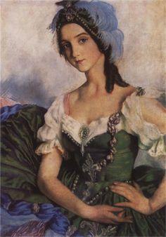 Portrait of Ballerina - Zinaida Serebriakova - WikiPaintings.org
