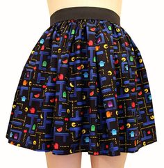 Colorful Retro Video Game Skirt by GoFollowRabbits on Etsy