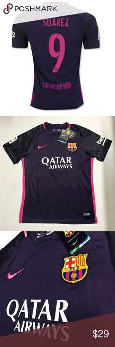 bf943f3392 New Away FC Barcelona Suarez Jersey 2016 2017 (M) This is brand new