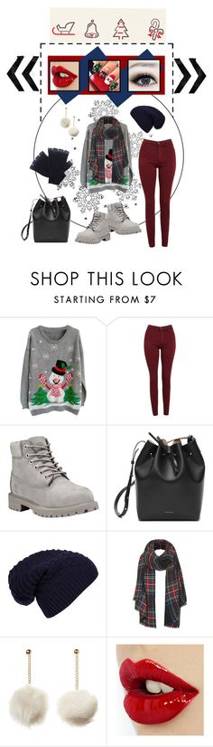Ho Ho Ho by olly-cli on Polyvore featuring AG Adriano Goldschmied, Timberland, Mansur Gavriel, Topshop, The Elder Statesman and WithChic-created by my daughter