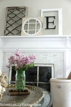 The Art of Propping - Antique Window Mantel