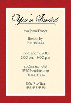 16 Best Dinner invite images | Corporate invitation, Invitations ...