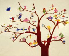 Paper Birds in a tree