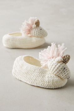 Crocheted Booties - anthropologie.com