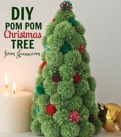 Looking for some festive decor? Create your own DIY Pom Pom Christmas Tree in just 4 easy steps!