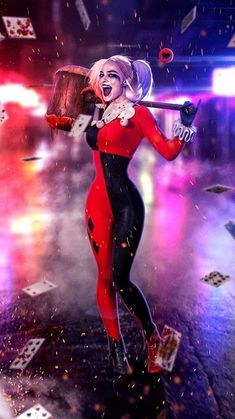 Joker Y Harley Quinn, Harley Quinn Drawing, Arlequina Margot Robbie, Margot Robbie Harley Quinn, Harley Queen, Hearly Quinn, Catwoman Cosplay, Gotham Girls, Heroes
