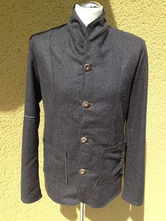 wool jacket grey. for men.