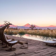 Who needs a vacation? Location: Volcán Licancabur from the infinity pool at Tierra Atacama - Atacama, Chile. Beautiful World, Beautiful Places, Places To Travel, Places To Visit, Decks, Need A Vacation, Adventure Is Out There, South America, Latin America
