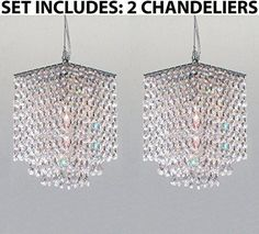 *** SET OF 2*** This beautiful Chandelier is trimmed with Empress Crystal(TM ) 100% Crystal Chandelier Pendant. A Great European Tradition. This beautiful penda