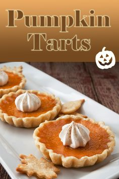 Halloween is coming! Try our Pumpkin Tarts!