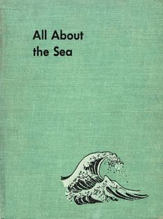 cloth cover of All About the Sea by Fredinand C. Lane, illustrated by Fritz Kredel (1953)
