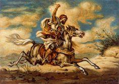 Giorgio de Chirico - Arab on horseback