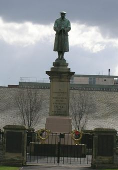 Batley Cenotaph. Sandwiched between the Baths and market place