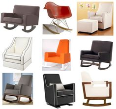 An awesome list of modern rocking chairs for babes.