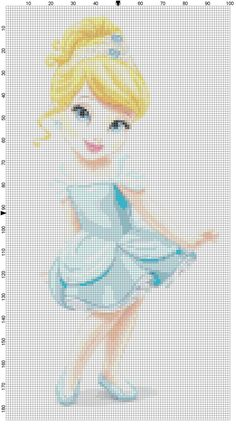 Mini Cinderella cross stitch pattern PDF by Bluegiantstitch, £1.20
