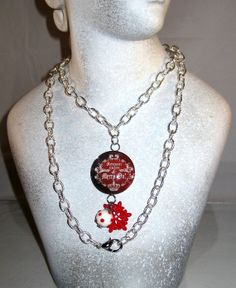 SALE Long Silver Cable Chain with Christmas by blingbychristine, $12.00