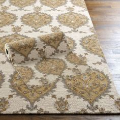 Allegro Rug | Ballard Designs... pretty for the dining room and perfect for my gray & gold fascination