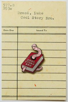 this backer card | Cool Story Bro Enamel Pin Badge | LukeDrozd on Etsy