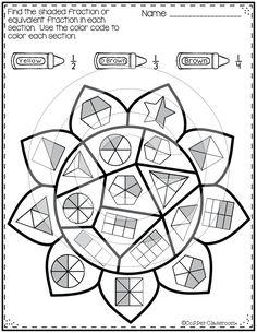 Grade 3 Fractions & decimals Worksheet equivalent