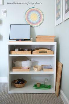 Our Montessori home - art area