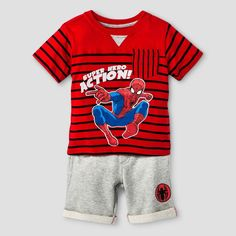 Baby Boys' Spiderman Top And Bottom Set Red 18M, Infant Boy's, Size: 18 M