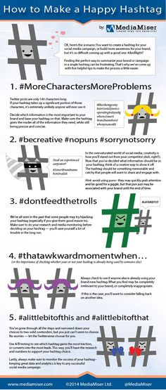 How To Make A #Happy #Hashtag [#infographic]