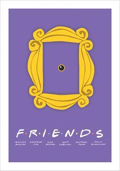 Friends - Friends - Comédia - Séries | Posters Minimalistas