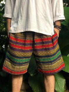 Cotton Baja Shorts Aztec Geo Hippie Boho festival Men Ethnic   Etsy