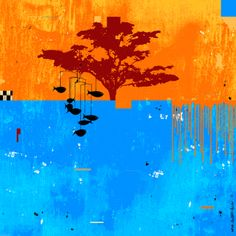 """Saatchi Online Artist: Mark Andrew Allen; other 2013 Collage """"FISH OUT OF WATER"""""""