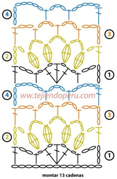 Tutorial: application valance or woven crochet or crochet