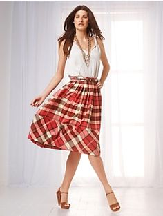 plaid skirt...so flirty! Talbots