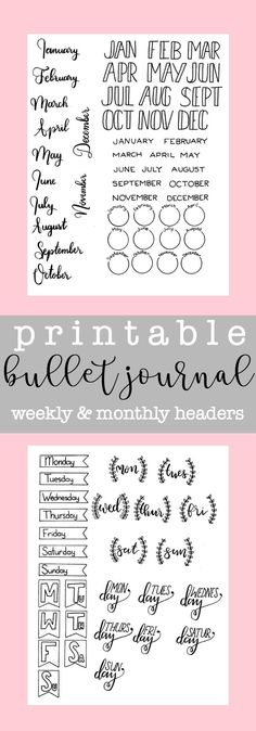 Download these beautiful bullet journal headers to add a creative touch to your journal.