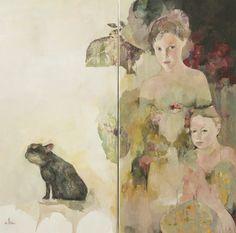 """Carlin"", oil on canvas, by Francoise de Felice"