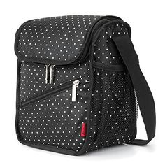 camping box organizer - Amzbag Cooler Bag / S-size Lunch Bag / Leak-proof Cool Box Organizer / For Travel / Picnic / Hiking (Black Dot) >>> Visit the image link more details. (This is an affiliate link) Camping Beds, Camping Hacks, Black Dots, Picnic, Image Link, Hiking, Lunch, Canning, Cool Stuff