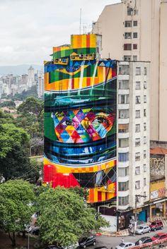 Essa semana, a famosa e agitada Avenida Paulista ganhou mais um mural…