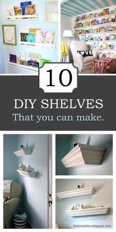 10 DIY Shelves that You Can Make - Knock-Off Wood  This would be great to make them whatever depth or length you wanted.