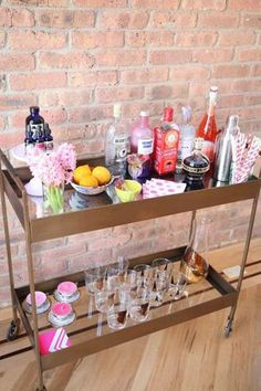 How great is this bar cart styling?