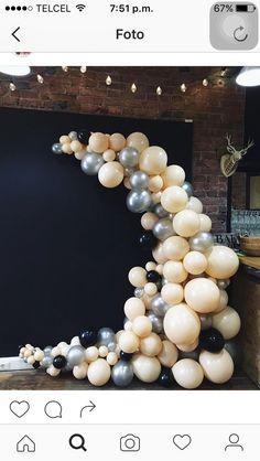 freeform circle cornered on floor Balloon Backdrop, Balloon Columns, Balloon Garland, Balloon Decorations, Wedding Decorations, Balloon Clusters, Love Balloon, Balloon Wall, Deco Floral